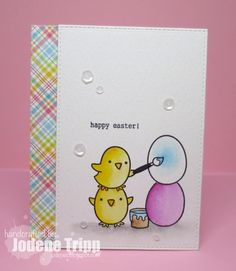 Lawn Fawn Chirpy Chirp Chirp; LF Perfectly Plaid; Easter