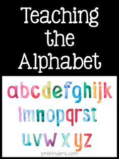 Teaching the Alphabet Standard Use content knowledge to build meaningful curriculum. This website offers a lot of resources to help me further my techniques. Teaching Letter Recognition, Teaching The Alphabet, Alphabet For Kids, Teaching Reading, Teaching Ideas, Preschool Literacy, Early Literacy, Alphabet Songs, Phonics Activities