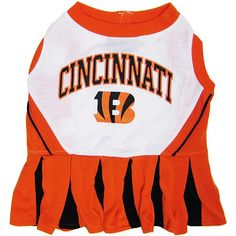 Pets First NFL Cincinnati Bengals Dog Cheerleader Dress, Small * Read more reviews of the product by visiting the link on the image.