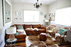 Tan Leather Couch Living Room On Pinterest Turquoise Rug Tan Leath