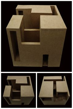 04-7 Romina Sequeiros Architecture Concept Drawings, Architecture Student, Architecture Portfolio, Architecture Design, Elements Of Design Form, Geometric Sculpture, Cube Design, Architectural Section, Space Crafts
