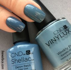 denim patch shellac and vinylux from cnd craft culture collection by fee wallace