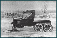 Model T Ford Forum: Old Photo - Snowmobile Attachment Puts a FORD On Snowshoes