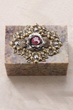 Rose of Sharon Garden Soapstone Box