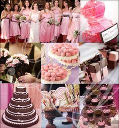 Table Runners And Flower Arrangemet At The Bottom Not Hot Pink Flowers Wedding Ideas Pinterest