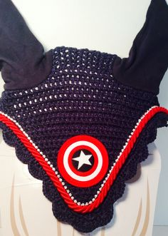 $45 Custom Captain America Equestrian Fly Bonnet