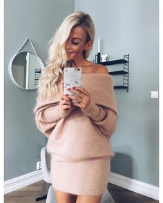 Possible to fall in love with a sweater? Instagram Posts, Sweaters, How To Wear, Fall, Clothes, Dresses, Knitting, Fashion, Autumn