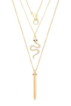 Edgy Icon Necklace Set by Steve Madden on @HauteLook