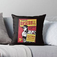 Vintage Baseball Pillows & Cushions   Redbubble Daybed Pillows, Floor Pillows, Cushions, Throw Pillows, San Diego Basketball, Cleveland Baseball, Negro League Baseball, American Giant, House