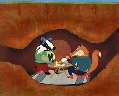 #carriemay #kidscornerillustration #illustration #digital #mixedmedia #character #fox #badger