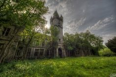 """Abandoned school, Chateau de Noisy in Celles, Belgium ~ built in 1866.  From the Facebook Community """"Abandoned Asylums""""."""