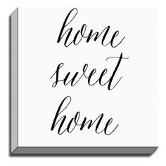 'Home Sweet Home' by Rosa Vila Textual Art on Wrapped Canvas