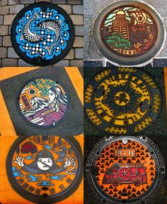 Lovely real-life manhole covers show how interesting even the most banal bits of a city can be.