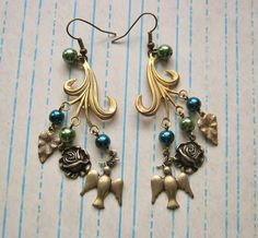May challenge earrings from Novegatti Designs.  All B'Sue parts, with glass pearls.  www.facebook.com/NovegattiDesigns