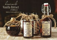 How to make Homemade Vanilla Extract #recipe and free printable label at TidyMom.net (now is a great time to start this for holiday baking & gifting!)