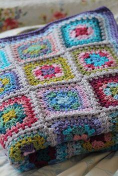 Hand crochet blanket in Attic 24 style