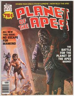 Planet Of The Apes Magazine #23, August 1976, Appears NM, but manufactured with interior bottom corner paper chips in the latter part of the issue, Priced as VF, Low Distribution. $19