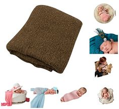 JLIKA Newborn Baby Photography Photo Prop Stretch Rayon Wrap Brown *** You can get more details by clicking on the image. (This is an affiliate link) #BabyBoySleepwearRobes