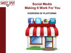 In this 3.5 hour workshop, participants will learn how to optimize their use of social media to create market interest in their products and services.  Participants will be introduced to the top social networking sites with a focus on how to market, promote and sell online while learning the seven steps to developing a social media strategy.    Twitter Hashtags: #SweetMarketingTraining  #MakingItWorkForYou