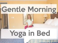 Short Gentle Morning Yoga Stretch in Bed - YouTube