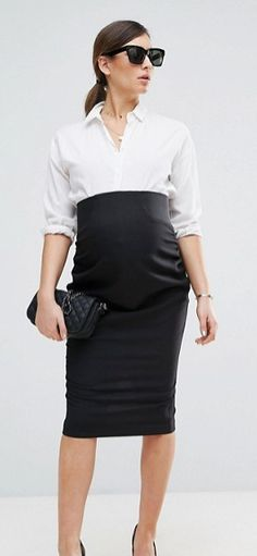 55429c7fc57 ASOS MATERNITY Workwear Tailored Pencil Skirt