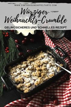 Blitzschnelle: Christmas-Beeren-Crumble mit Spekulatius-Streuseln Christmas berry crumble with speculoos sprinkles Berry Smoothie Recipe, Easy Smoothie Recipes, Easy Smoothies, Snack Recipes, Dessert Recipes, Dinner Recipes, Party Recipes, Dinner Ideas, Healthy Recipes