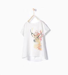 ZARA - KIDS - Shiny forest printed T-shirt