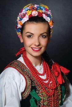 Folk Costume, Costumes, Decoupage Tins, Captain Hat, Hats, Poland, Jewelry, Krakow, Women