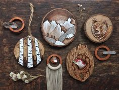 Les minipeintures sur bois de Kimera Wachna  Dessein de dessin