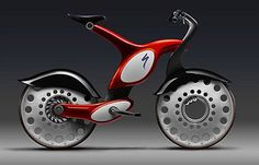 """BMW bicycle"" in grey and red for faster mobile lifestyle 