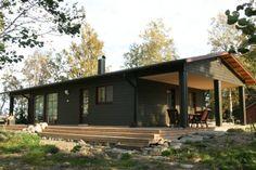 Sulkava 78 huvila – k, khh ja sauna - Huvilat Box Houses, Small Houses, Home Fashion, House Ideas, Cottage, House Design, Cabin, Future, Architecture