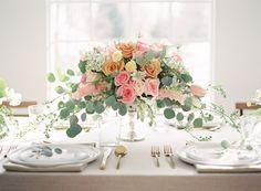 Glamorous Blush, Peach and Emerald Wedding Ideas | Wedding Sparrow | Alicia Lacey Photography