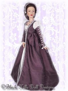 Black Hills Doll Designs - Gallery.  Historical Italian gown