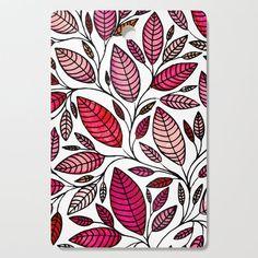 Red Leaf - Floral Illustration 003 Cutting Board by maryzoles Madhubani Art, Madhubani Painting, Mandala Art Lesson, Mandala Drawing, Posca Art, Doodle Art Designs, Cool Art Drawings, Motif Floral, Diy Canvas Art