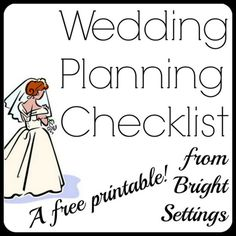 Wedding Planning Checklist from Bright Settings—Our free printable wedding planning checklist is perfect for planning your big day. Mark off tasks as you go to make sure your wedding day goes as planned! #weddingplanning #checklist #printable