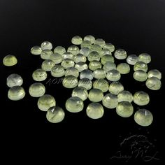 1pcs 6mm Natural Prehnite Round Shape Cabochon Untreated by AoryNL
