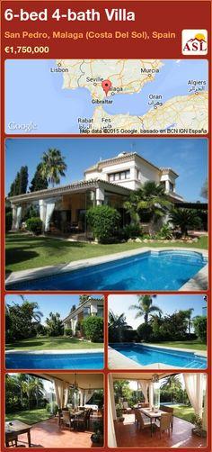 Villa for Sale in San Pedro, Malaga (Costa Del Sol), Spain with 6 bedrooms, 4 bathrooms - A Spanish Life Murcia, Malaga, Guest Toilet, Open Fireplace, Washroom, Wine Cellar, Swimming Pools, Villa, Mansions