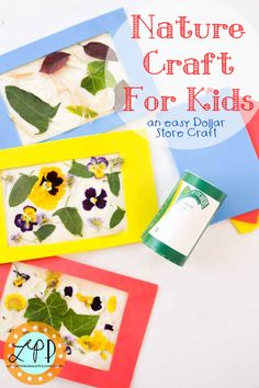 Nature Craft For Kids -Make pretty nature pictures and a reusable frame