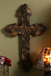Fruit of the Vine Stone Cross $38.00 http://www.celebrateyourfaith.com/Fruit-of-the-Vine-Stone-Cross-P2868C610.cfm
