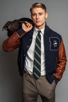Les Teddy s ou Varsity Jacket (appelés aussi  college jacket ou Letterman  Jacket) mensstylevarsityjacket 91cce8dd8174