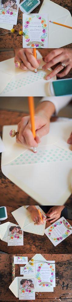 Viste de lunares tus invitaciones de boda / http://ruffledblog.com/