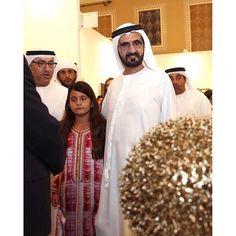 Al Jalila bint Mohammed bin Rashid Al Maktoum y su padre, Mohammed bin Rashid bin Saeed Al Maktoum, 16/03/2016. Vía: hhshkmohd