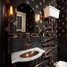 Steampunk Bathroom - eclectic - bathroom - san francisco - Andre Rothblatt Architecture