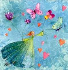 Fairy and Butterflies by Mila Marquis - Counted cross stitch pattern in PDF format