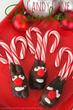 Candy Cane Reindeer – Kids Christmas Food Craft, great Christmas Party Recipe for Children. Easy, Fun and Cute Kids Food Craft. Details for this Rudolph on Frugal Coupon Living.