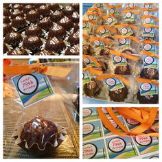 Mini bundt cakes as party favors.  Created by my sister and I.