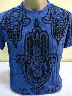 Sure Design Mens Three Hands T-Shirt Blue $18.00 at http://www.suredesigntshirts.com
