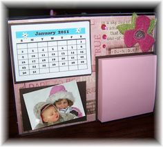 Grammies Craft Room: Desk Top Calendar/Post It Holder