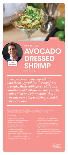 Looking for a tasty new recipe? Try Macy's Culinary Council Chef Rick Bayless' Avocado-dressed Shrimp