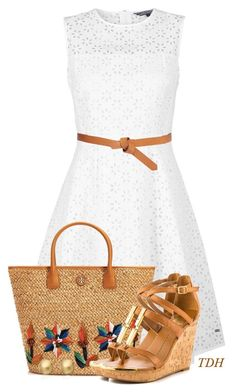 """Straw Tote"" by talvadh ❤ liked on Polyvore"